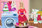 Barbie Washing Clothes
