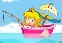 Super Princess Peach Fishing