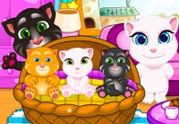 Tom Angela Cat Makeup Baby Room